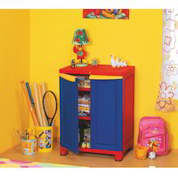 Plastic Red & blue Cupboard