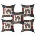 Camel Print Cotton Cushion Cover