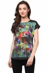 Sarina Manufacturing Digitally Print T-shirt SoftyFabric, in Pan India