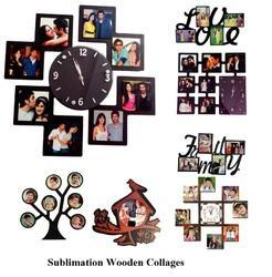 Sublimation Wooden Collages And Clocks