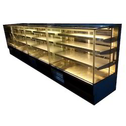 4 Shelf Flat Glass Bakery Display Counter