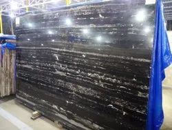 Polished Finish Silver Portoro Marble, Thickness: 16 Mm To 20 Mm