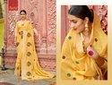 Yellow Fancy Royal Ladies Saree