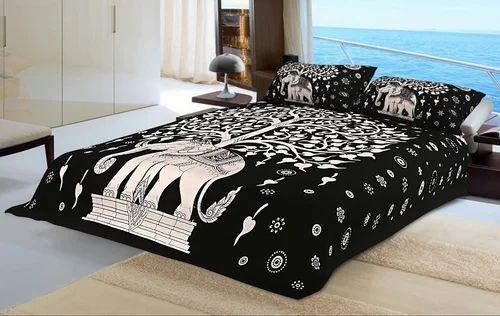 Unique Elephant Print Bed Sheet