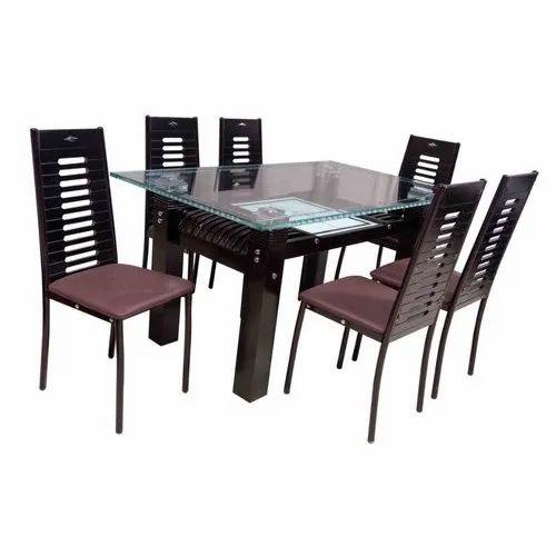 Glass Top Modern Dining Table Set, Modern Dining Room Set