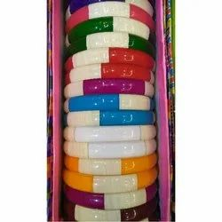 Multicolor Round Plastic Bangle Set, Packaging Type: Box, Size: 2.2 2.4 2.6 2.8 Inch