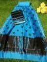 Block Printed Chanderi Suit Fabric