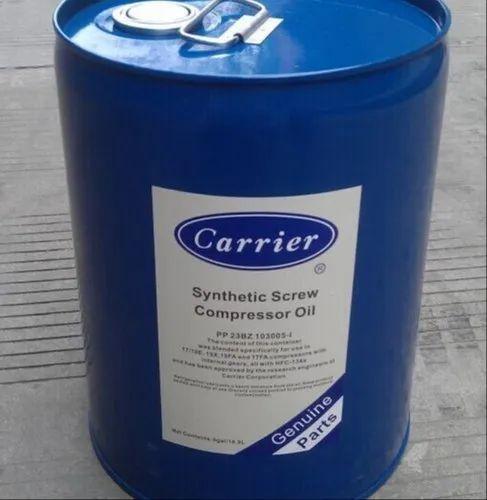 Carrier Chiller Refrigeration Compressor Oil, Pack Size: 18.9 Litres, Packaging Type: Barrel