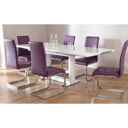 Brown White 6 Seater Modern Dining Table Rs 20000 Set Id