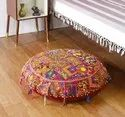 Khambadiya Patchwork Floor Pillow Cover