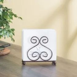Tissue Paper Stand Iron Napkin Holder for Dining Table
