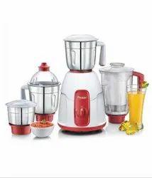 Sulver And Red Blades Prestige Juicer Mixer Grinder for Home, Model: Elegent