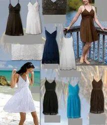 plain Cotton Cocktail Evening Dress, Age Group: 17-25