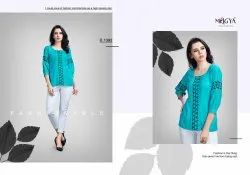 Rayon Round Neck Tops