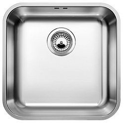 Single Stainless Steel Kitchen Sink, 24 X 18 X 9 Inches