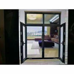 Modern Powder Coated Aluminium Glass Window, for Residential