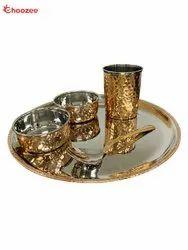 Copper / Stainless Steel Dinner Set (5 Pcs)