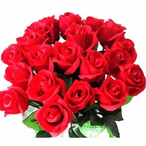 Taj Mahal Red Rose Flower, Packaging Type: Plastic Bag