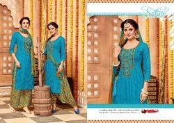 Blue Plazo Punjabi Suits