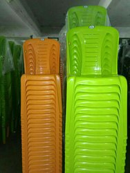 Green And Yellow Color Plastic Chair