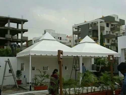 White Pyramid Waterproof Outdoor Canopy