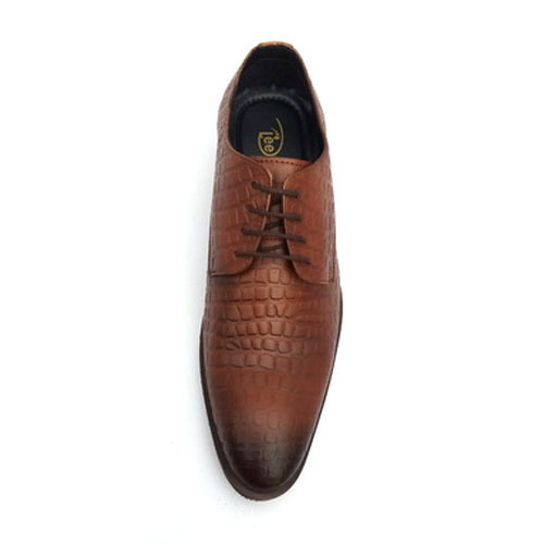 444e32dce6da Crocodile Pattern Brown Leather Shoes at Rs 1300 /pair | Gents ...