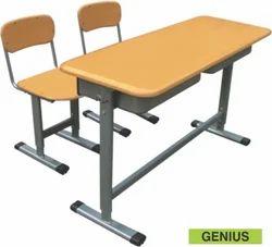 School Desk Classroom Bench Double Seater Adjustable Wooden