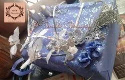 Blue Wedding Trousseau Packing