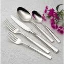 Round Chrome Silver Coated Brass Cutlery Set