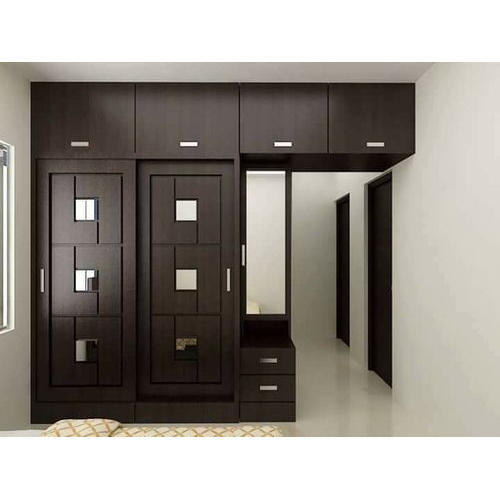 Kerala Bedroom Cupboard Designs Danish Interior Design Bedroom Bedroom Armoire Canada Bedroom Paint Ideas Asian Paints: Brown Wall Mount Wooden Almirah, Height: 8-10 Feet, Rs