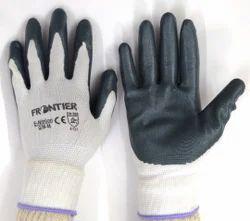 White Nylon Shell With Grey Nitrile Dipped Glove Midas Make