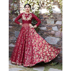 Indo Western Embroidered Lehenga Choli