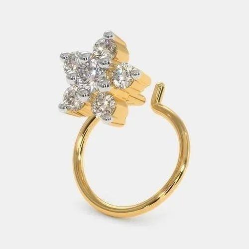 Ladies Gold Nose Ring