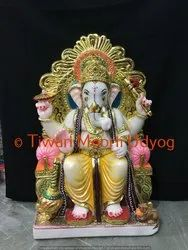 Marble Ganesh Statue For Office