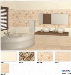697 (L, H, HA, D, DF) Hexa Ceramic Digital Wall Tiles