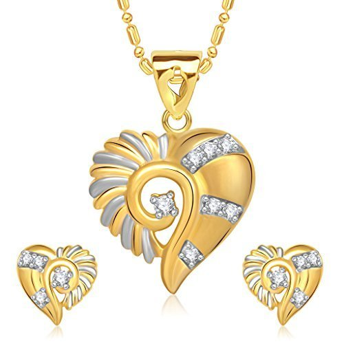 572ce628cc0335 Designer Gold Pendant Set, Pendant Set - Dazzle Ornaments Private ...