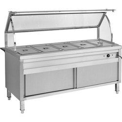 Mobile Bain Marie With Under Shelf