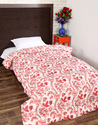 Trendy Design Cotton 97 x 64 Inches Boho Hand Made Block Print Floral Bed Quilt