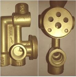 BRASS FORGED DIVERTOR 3 INLET ROYALE