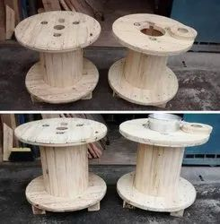 Natural Wooden Cable Drums