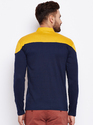 Men Full Sleeve Polo Neck Multicolour T-Shirt