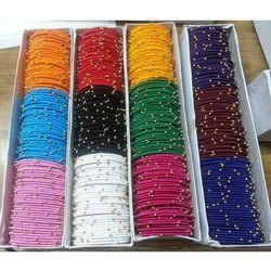 Multicolor Thin Silk Thread Bangles