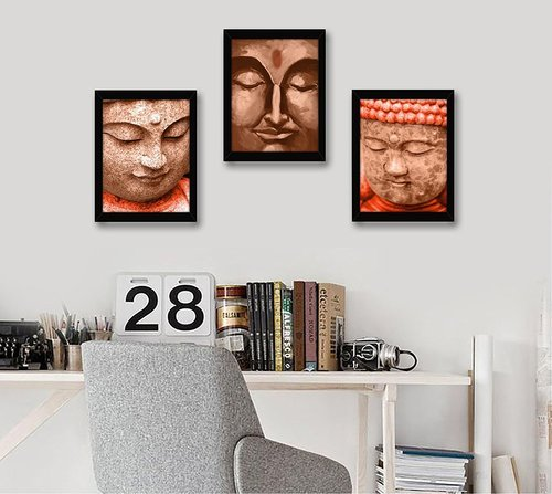 Buddha Painting Framed Wall Art Paintings For Decoration, Size: 25.9 ...
