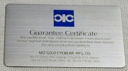 CTI White Warranty Card, Size: 86x54 Mm