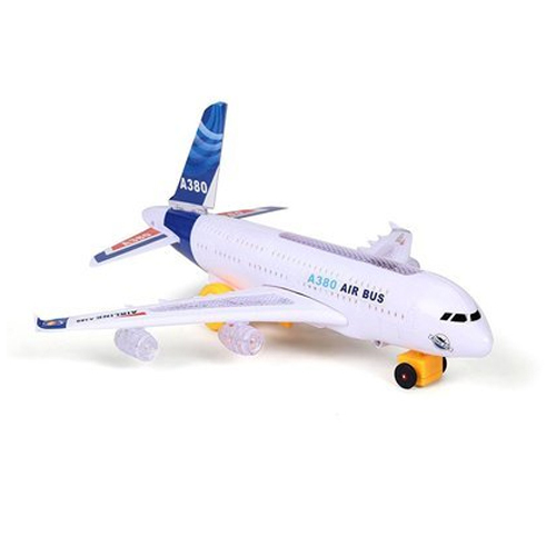 Toy Kart White Aeroplane Battery Operated Toy