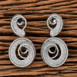 Cz Classic Earring With Black Plating 405590