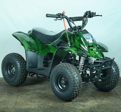 80 CC Junior ATV Green Military