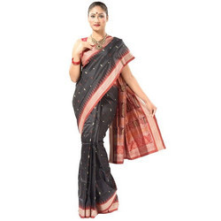 Cotton Printed Ladies Ethnic Saree with Blouse Piece, Length: 5.5 m