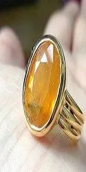 Yellow Sapphire 5.00 Carat Pukhraj Stone Unheated & Original Stone Ring