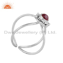 Natural Ruby Gemstone Designer Sterling Silver Oxidized Ring Jewelry
